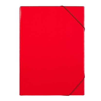 Picture of Office Box, with rubber band, A4, 15 mm, UV varnish, red
