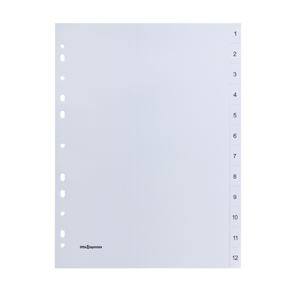 Picture of Office 1 Superstore PP Dividers A4, with numbers, 10 pcs.