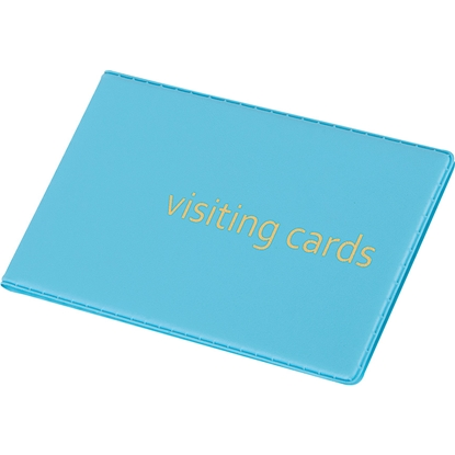 Picture of Panta Plast Business Card Book 24 cards, PVC, pastel blue