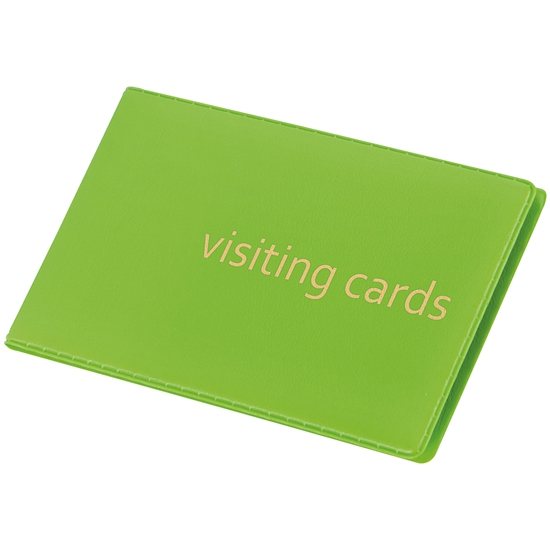 Picture of Panta Plast Business Card Book 24 cards, PVC, pastel green