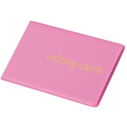 Picture of Panta Plast Business Card Book 24 cards, PVC, pastel pink