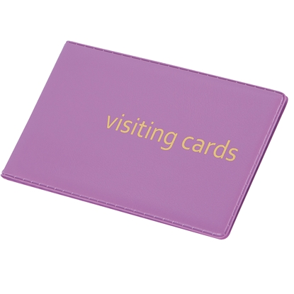 Picture of Panta Plast Business Card Book 24 cards, PVC, purple