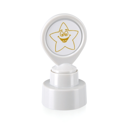 "Picture of Colop Motivational stamp ""Gold star"", white"