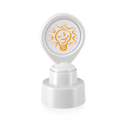 "Picture of Colop Motivational stamp ""Light bulb"", white"