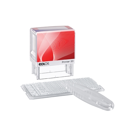 Picture of Colop Stamp Printer 20/1 Set, self-inking, 14 x 38 mm, with latin letters