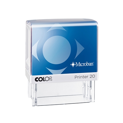 Picture of Colop Stamp Printer 20 Microban, rectangular, 13 x 38 mm, blue