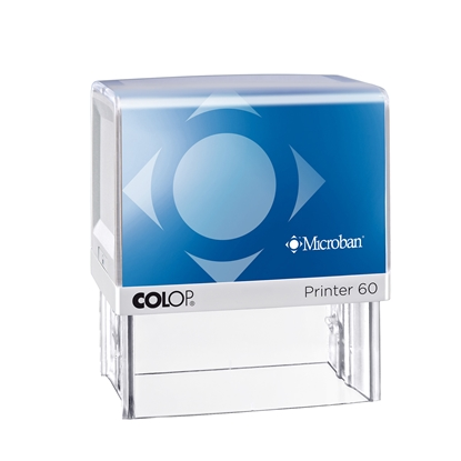 Picture of Colop Stamp Printer 60 Microban, rectangular, 37 x 76 mm, blue