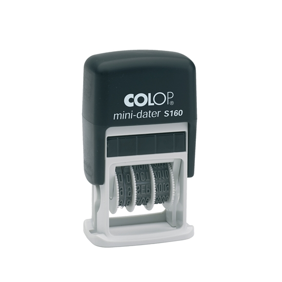 Picture of Colop  S160/4 Dater with letters and rubber stamp, 4 mm, black