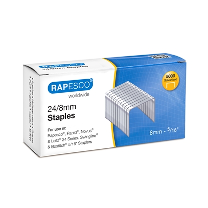 Picture of Rapesco Staples, 24/8 mm, 5000 pcs.
