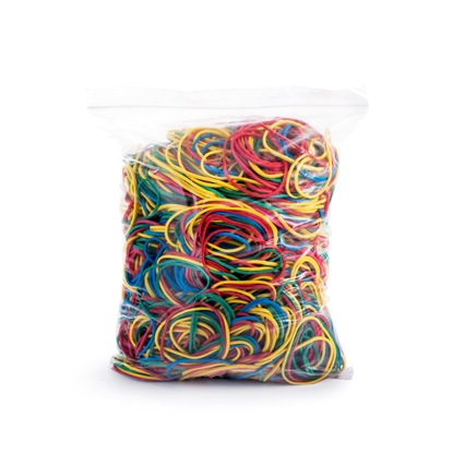 Picture of Top Office Rubber Bands, 90% rubber, 500 g, coloured