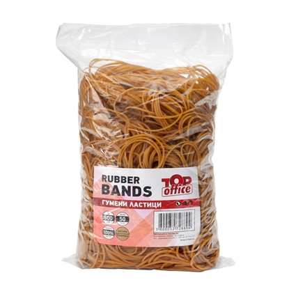 Picture of Top Office Rubber Bands, 100% rubber, 500 g, brown