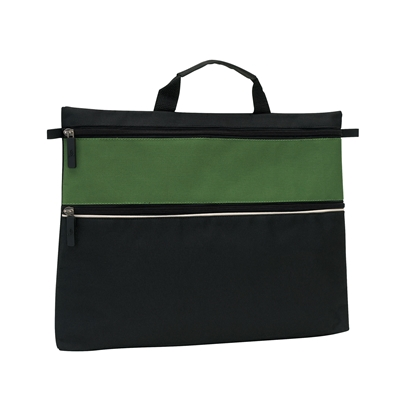 Picture of TOPS Document bag File with 2 zippers, green
