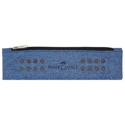 Picture of Faber-Castell Pencil pouch Grip, with a zipper, blue