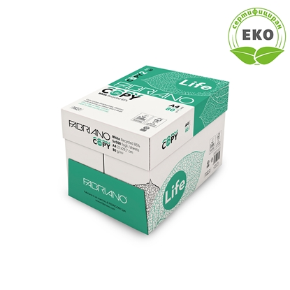 Picture of Fabriano Copy Life Copy Paper, 85% recycled A4, 80 g/m2, 500 sheets, 5 packs