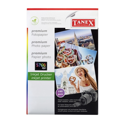 Picture of Tanex Photo Paper, A4, 180 g/m2, glossy, 25 sheets