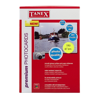 Picture of Tanex Photo Paper, 10 x 15 cm, 180 g/m2, glossy, 100 sheets