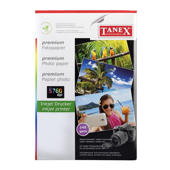 Picture of Tanex Photo Paper, A4, 240 g/m2, glossy, 25 sheets
