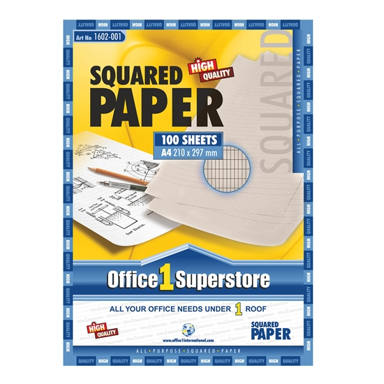 Picture of Office 1 Superstore Squared Writing Paper, A4, newsprint, 100 sheets