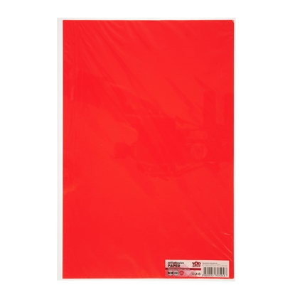 Picture of Top Office Self-adhesive Paper, 20 x 30 cm, red, 10 sheets
