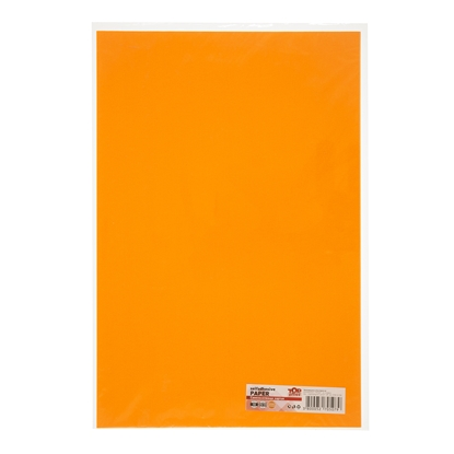 Picture of Top Office Self-adhesive Paper, 20 x 30 cm, orange, 10 sheets
