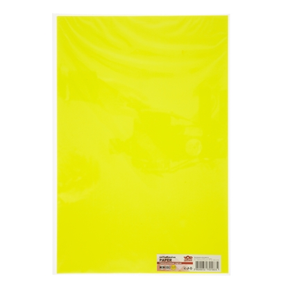 Picture of Top Office Self-adhesive Paper, 20 x 30 cm, yellow, 10 sheets