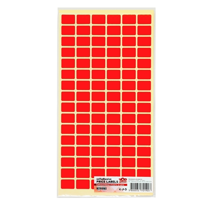 Picture of Top Office Self-adhesive Price Labels, 12 x 18 mm, red, 960 pcs.