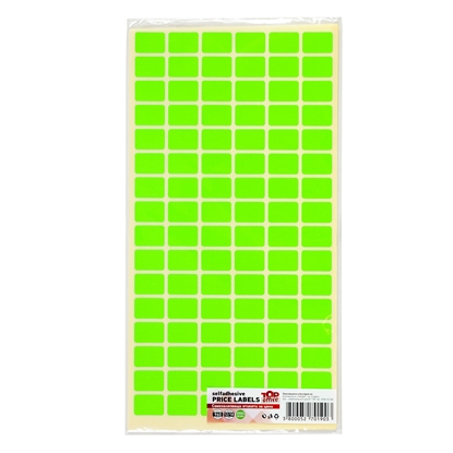 Picture of Top Office Self-adhesive Price Labels, 12 x 18 mm, green, 960 pcs.