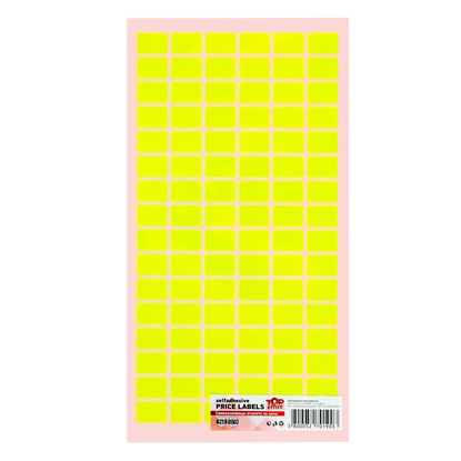 Picture of Top Office Self-adhesive Price Labels, 12 x 18 mm, yellow, 960 pcs.