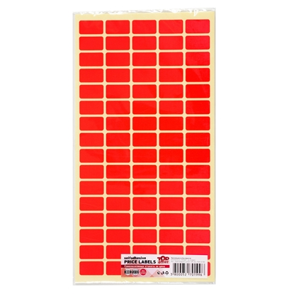 Picture of Top Office Self-adhesive Price Labels, 12 x 22 mm, red, 800 pcs.
