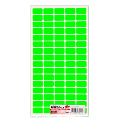 Picture of Top Office Self-adhesive Price Labels, 12 x 22 mm, green, 800 pcs.