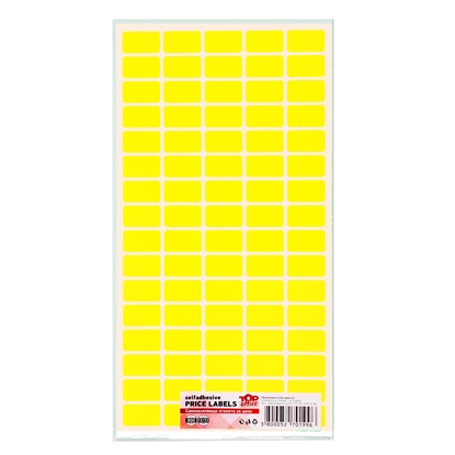 Picture of Top Office Self-adhesive Price Labels, 12 x 22 mm, yellow, 800 pcs.