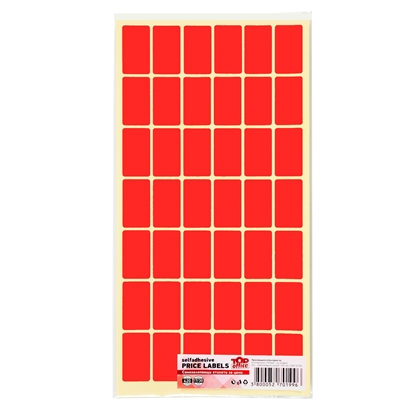 Picture of Top Office Self-adhesive Price Labels, 17 x 30 mm, red, 420 pcs.