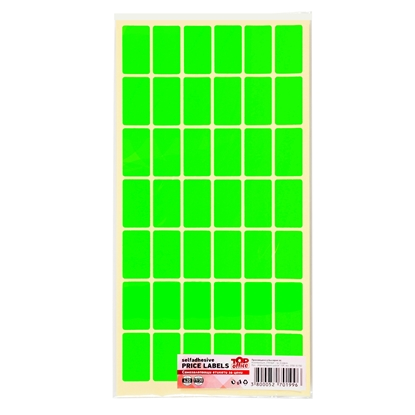 Picture of Top Office Self-adhesive Price Labels, 17 x 30 mm, green, 420 pcs.