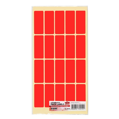 Picture of Top Office Self-adhesive Price Labels, 21 x 51 mm, red, 200 pcs.