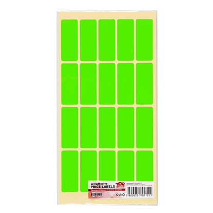 Picture of Top Office Self-adhesive Price Labels, 21 x 51 mm, green, 200 pcs.