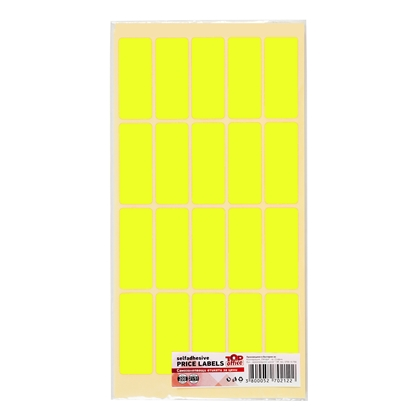 Picture of Top Office Self-adhesive Price Labels, 21 x 51 mm, yellow, 200 pcs.