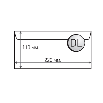 Picture of Office 1 Superstore Mailing Envelope, DL, 110 x 220 mm, paper, peel & seal, white, 25 pcs.