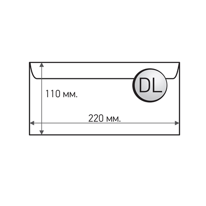 Picture of Office 1 Superstore Mailing Envelope, DL, 110 x 220 mm, paper, peel & seal, white, 100 pcs.