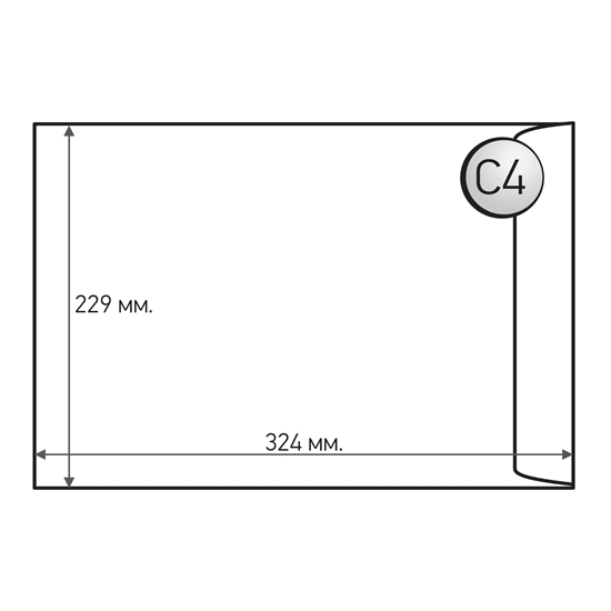 Picture of Office 1 Superstore Mailing Envelope, C4, 229 x 324 mm, paper, peel & seal, white, 10 pcs.