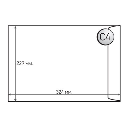 Picture of Office 1 Superstore Mailing Envelope, C4, 229 x 324 mm, paper, peel & seal, white, 50 pcs.