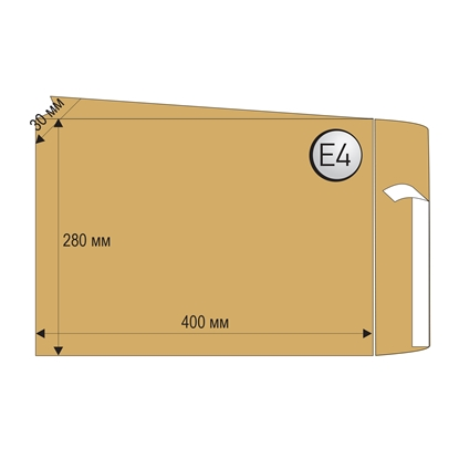 Picture of Top Office Mailing Envelope, E4, 280 x 400 mm, paper, expandable, peel & seal, brown, 250 pcs.
