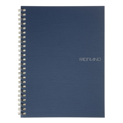 Picture of Fabriano Notebook, A5,  lined, offset paper, with metal spiral, soft covers, 70 sheets, blue