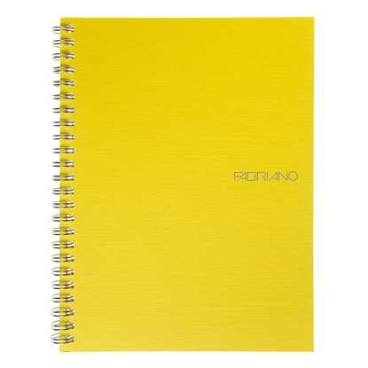 Picture of Fabriano Notebook, A5,  lined, offset paper, with metal spiral, soft covers, 70 sheets, yellow