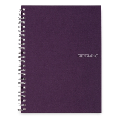 Picture of Fabriano Notebook, A5,  lined, offset paper, with metal spiral, soft covers, 70 sheets, purple