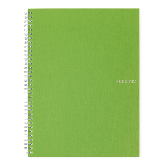 Picture of Fabriano Notebook, A5,  lined, offset paper, with metal spiral, soft covers, 70 sheets, light green