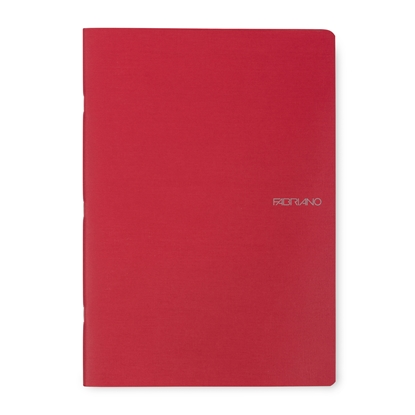 Picture of Fabriano Notebook, A4,  lined, offset paper, soft covers, 40 sheets, red