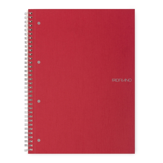 Picture of Fabriano Notebook, A4,  lined, offset paper, with metal spiral, 70 sheets, red