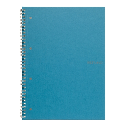 Picture of Fabriano Notebook, A4,  lined, offset paper, with metal spiral, soft covers, 70 sheets, blue