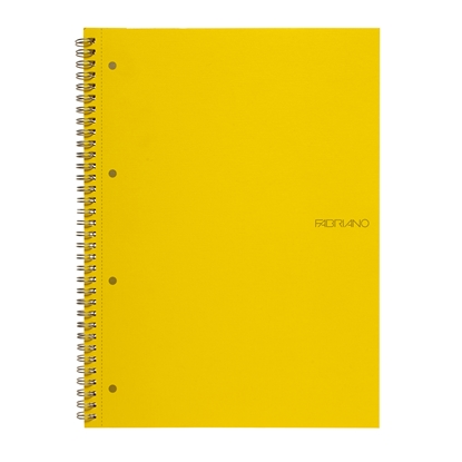 Picture of Fabriano Notebook, A4,  lined, offset paper, with metal spiral, soft covers, 70 sheets, yellow