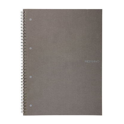 Picture of Fabriano Notebook, A4,  lined, offset paper, with metal spiral, soft covers, 70 sheets, grey
